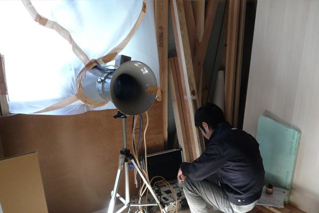鴨志田の家気密測定