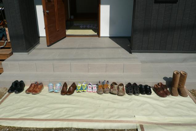 成瀬の家靴がいっぱい