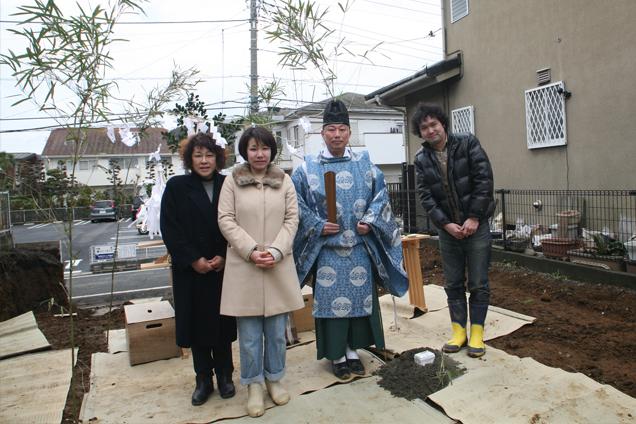 鶴川の家地鎮祭終了