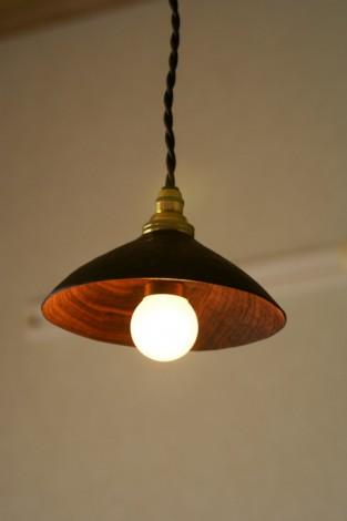 ウォールナットの照明