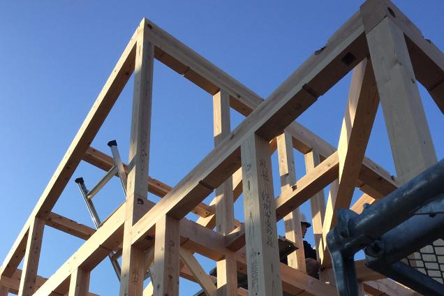 【構造見学会】4月8日『紀州ブランド杉の構造材と外断熱』
