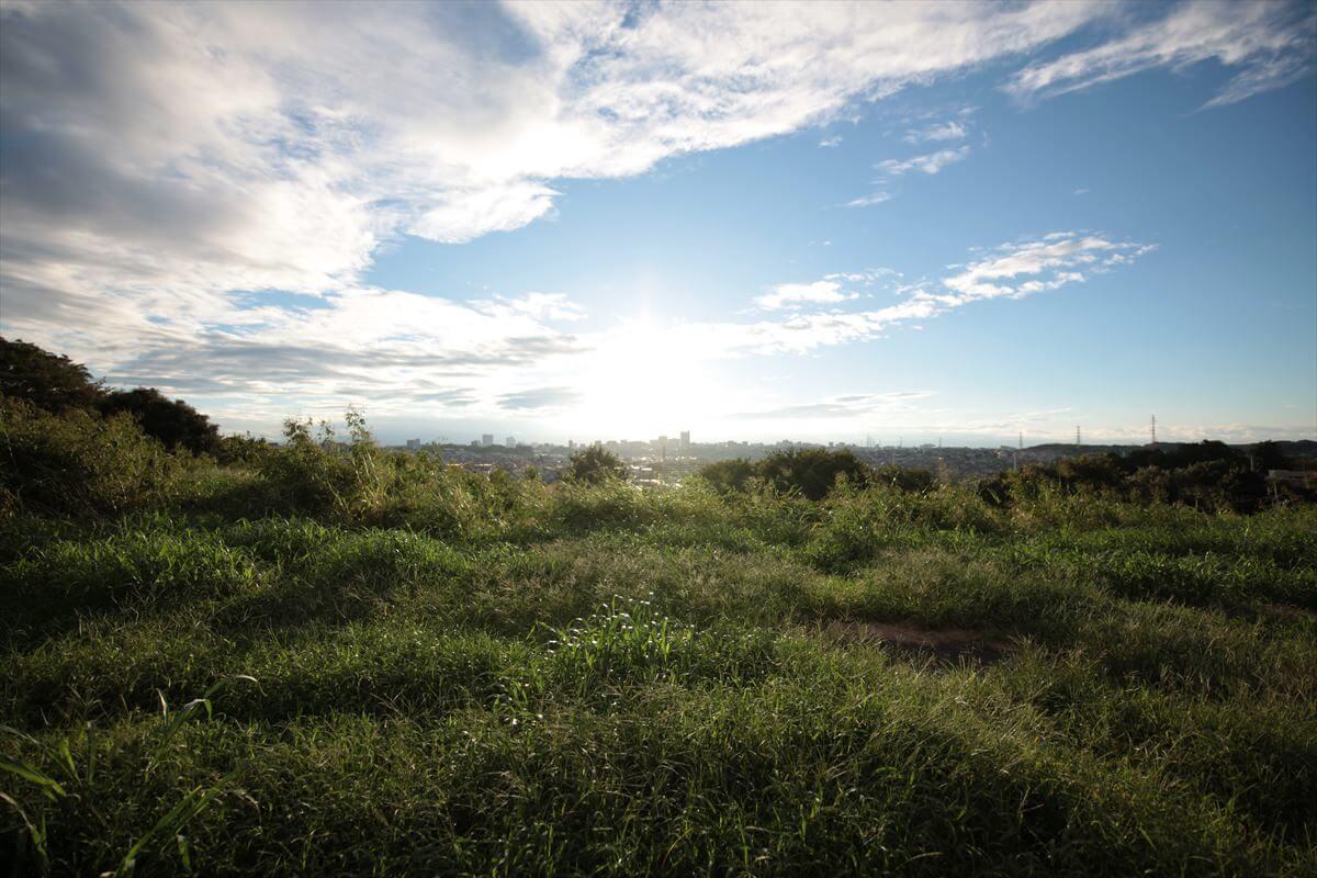 成瀬山吹緑地から町田市街を一望